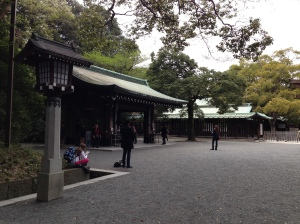 Inside shrine grounds